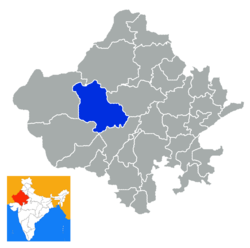 Location of Jodhpur district in Rajasthan