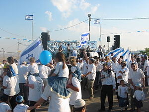 Migron, Mateh Binyamin - 2008 Yom Haatzmaut celebration at Migron