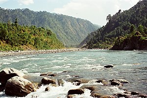 English: Ravi River, near Chamba.