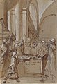 Raymond Diocrès Speaking During His Funeral (from the Life of Saint Bruno of Cologne) MET 2001.502.jpg