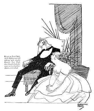 Boredom - 1916 Rea Irvin illustration depicting a bore putting her audience to sleep