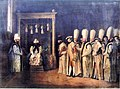 Reception ceremony of the Conte de Saint Priest at the Ottoman Porte Antoine de Favray 1767.jpg
