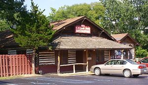 U.S. Route 66 in Missouri - The log Red Cedar Inn in Pacific served travellers until 2007