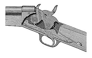 Remington Rolling Block rifle - Remington Rolling-Block breech