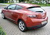 Renault Mégane III Phase I Coupé Dynamique TCe 130 Cayenneorange Heck.JPG