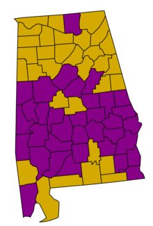 Results of the Alabama Democratic Party Presidential Primaries 2008.png