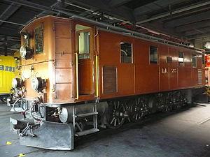 Rhaetian Railway Ge 4/6 - Ge 4/6 No. 353 inside Samedan locomotive depot