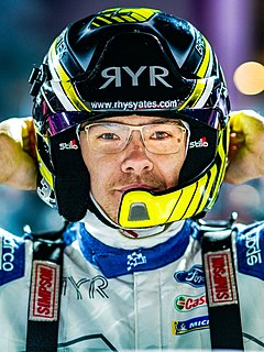 Rhys Yates British rally driver