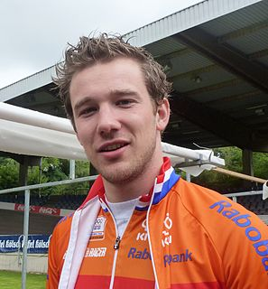Rigard van Klooster former Dutch track racing cyclist and speed skater