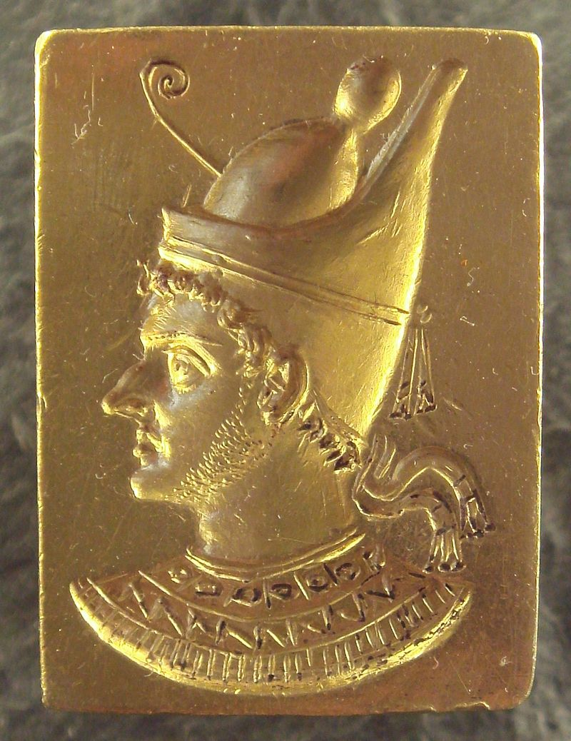 Ring with engraved portrait of Ptolemy VI Philometor (3rd%E2%80%932nd century BCE) - 2009.jpg