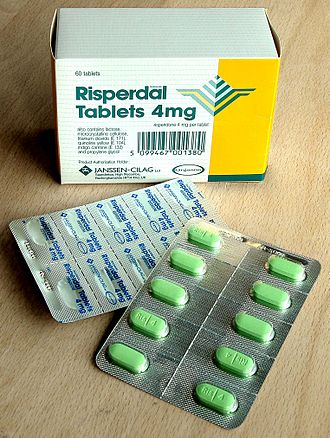 Packaging and labeling - UK Risperdal Tablets 2000 in a blister pack, which was itself packaged in a folding carton made of paperboard