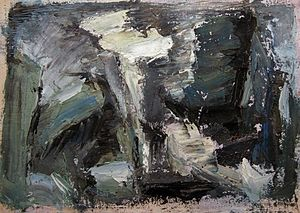 Rita Letendre - RL-51 - Very early small format abstract painting by Rita Letendre, 1951