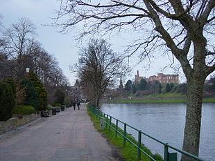 Il fiume Ness e il castello di Inverness