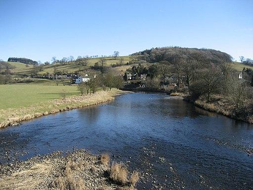 River Ribble at Sawley - geograph.org.uk - 1736367