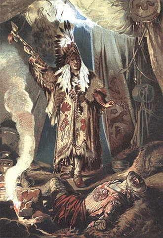 Nick of the Woods - 1883 illustration from German edition of novel Die Gefahren der Wildnis by Hermann Vogel
