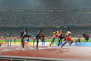 Athletics at the 2008 Summer Olympics – Men's 110 metres hurdles - Image: Robles Beijing
