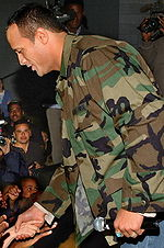 Dwayne Johnson greeting fans in 2006