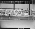 "Rohwer Relocation Center, McGehee, Arkansas. ""Community Life,"" a mural painted by Michi Tanaka who . . . - NARA - 539591.tif"