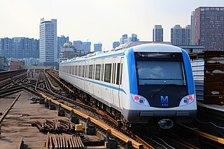 Wuhan Metro public transport system in China