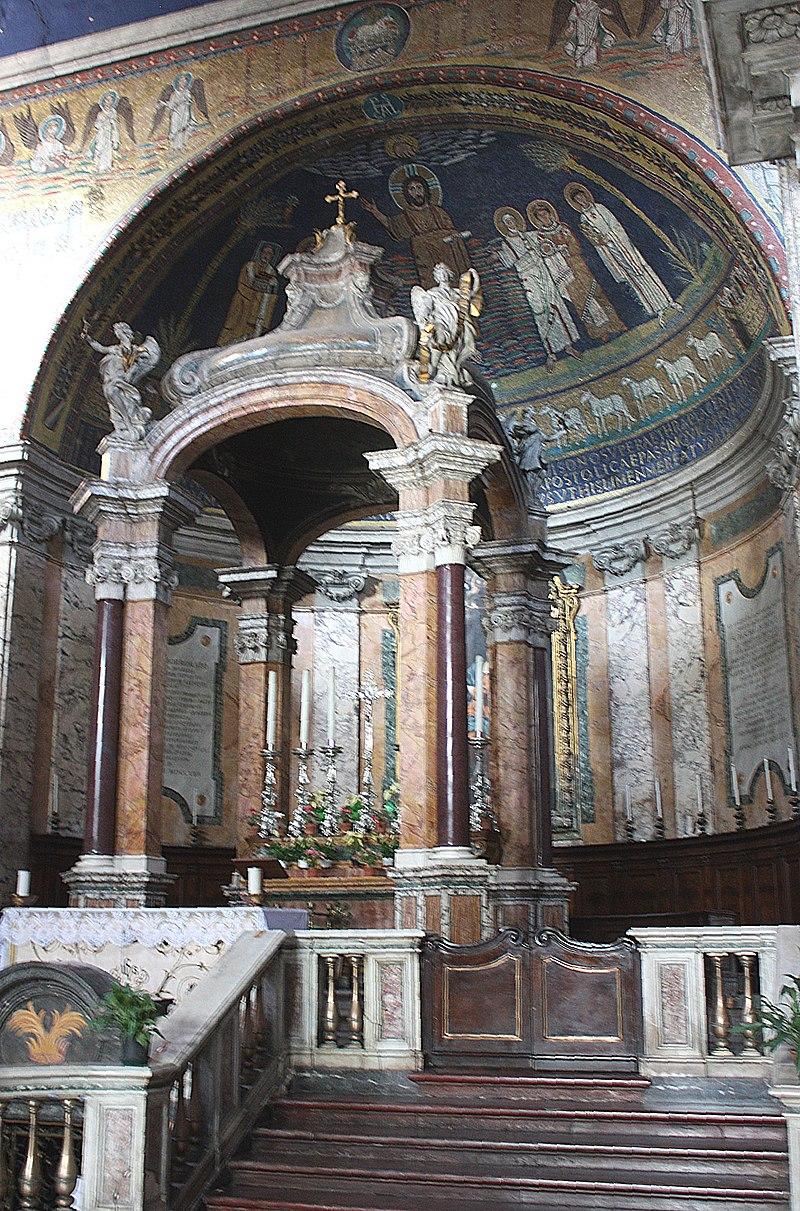 Rom, Santa Prassede, der Hochaltar.JPG