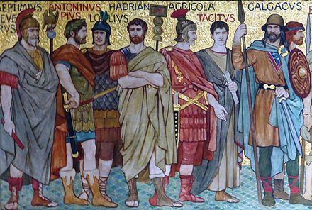 ビクトリア朝の芸術家、ウィリアム・ホールが描いたスコットランドの歴史におけるローマ時代の著名な人物
