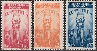 1948 Constitution of Romania - Postage stamps commemorating the constitution