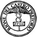 Rome rione XVIII castro pretorio logo.png