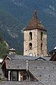 Roofs of Ordino and bell tower of Saint Corneli and Saint Cebrià d'Ordino. Andorra 219.jpg