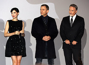 The Girl with the Dragon Tattoo (2011 film) - Mara, Craig, and Fincher at the French premiere of The Girl with the Dragon Tattoo in Paris.