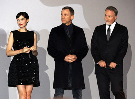 Mara, Craig, and Fincher at the French premiere of The Girl with the Dragon Tattoo in Paris. Rooney Mara, Daniel Craig and David Fincher (2012).jpg