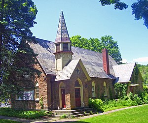 Rosendale, New York - The Rosendale Library, in the now-unincorporated Rosendale Village