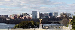 Rosslyn, Virginia, as seen from Washington, D.C.'s Lincoln Memorial in December 2011.