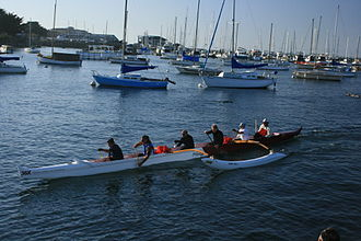 Pacific Grove Marine Gardens State Marine Conservation Area - Rowers in Monterey Bay