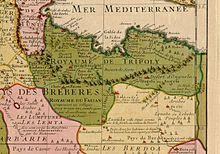 Le Royaume de Tripoli en 1707