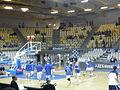 Rozgrzewka koszykarzy AZS Koszalin przed meczem z Asseco Prokom Gdynia w Tauron Basket Lidze, 6 października 2012.JPG