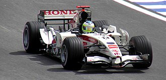 Honda in Formula One - Rubens Barrichello driving for Honda at the 2006 Brazilian GP.