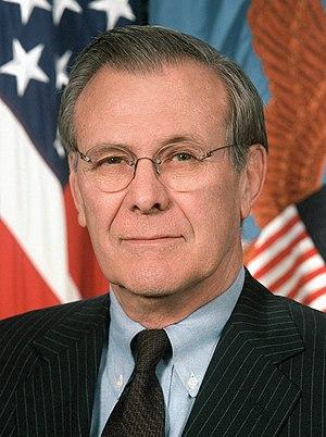 Donald Rumsfeld - Image: Rumsfeld 1 (cropped)