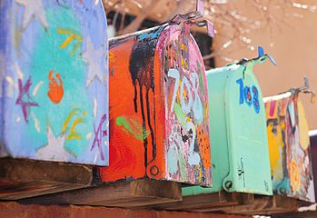 Rural mailboxes in Santa Fe, NM.JPG
