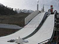 RusSki Gorki Jumping Center during 2014 Winter Olympics.JPG