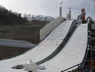 RusSki Gorki Jumping Center - Image: Rus Ski Gorki Jumping Center during 2014 Winter Olympics