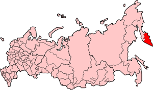 Kamchatka Oblast - Location of Kamchatka Oblast in Russia prior to 2007 merger