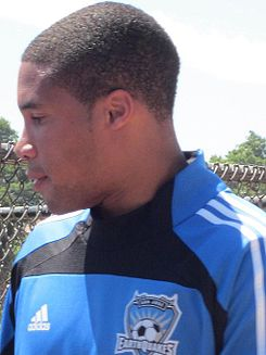 Ryan Johnson at Galaxy at Earthquakes 2010-08-21 1.JPG