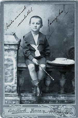 Hungarian author Sándor Márai at the age of 4