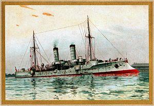 Gazelle-class cruiser - Image: S.M. kleiner kreuzer Gazelle restoration