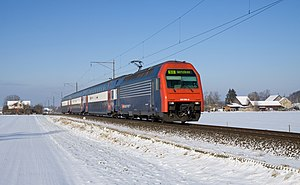 "Zürich S-Bahn - The ""DPZ"" trains form the largest part of the fleet (Re 450 locomotive, B and AB coaches, Bt control car)"