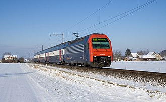 S3 (ZVV) - S3 service between Fehraltorf and Pfäffikon ZH in Winter.