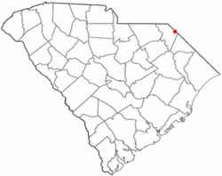 Location of McColl in South Carolina