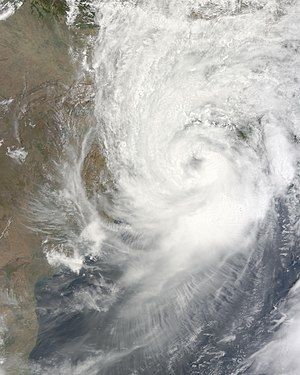2009 North Indian Ocean cyclone season - Image: SCS Aila at peak intensity