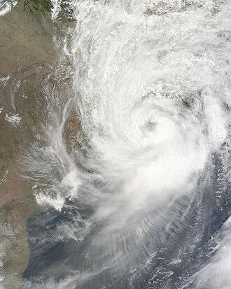 2009 North Indian Ocean cyclone season - Image: SCS Aila at peak intensity