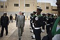 SECNAV reviews Mauritanian military personnel. (9511379378).jpg